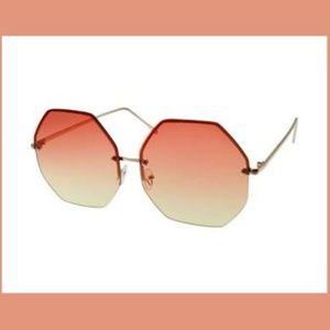 Accessories - 🌈5/$25 Octagon Orange Trendy Oversized Sunglasses